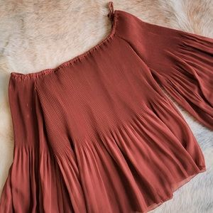 WILFRED pleated blouse, size MEDIUM